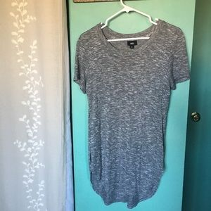 Short Sleeve Grey Soft Tunic by Mossimo